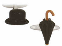 Dalaco 90-1443 Black Umbrella And Bowler Hat Cufflinks